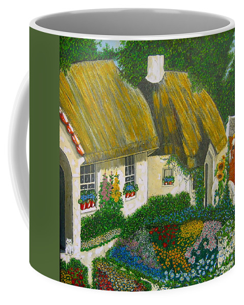 Gardens Coffee Mug featuring the painting Sunday Morning In The Netherlands by V Boge