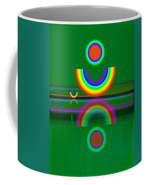 Reflections Coffee Mug featuring the painting Sundown by Charles Stuart