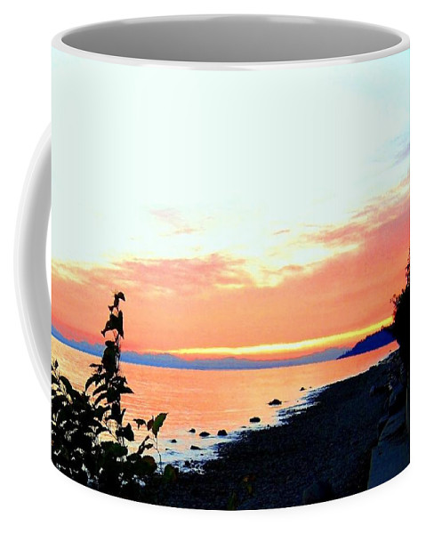 Sunset Coffee Mug featuring the photograph Sundown From West Vancouver by Will Borden