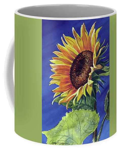 Sunflower Coffee Mug featuring the painting Sunflower by Cheryl Johnson