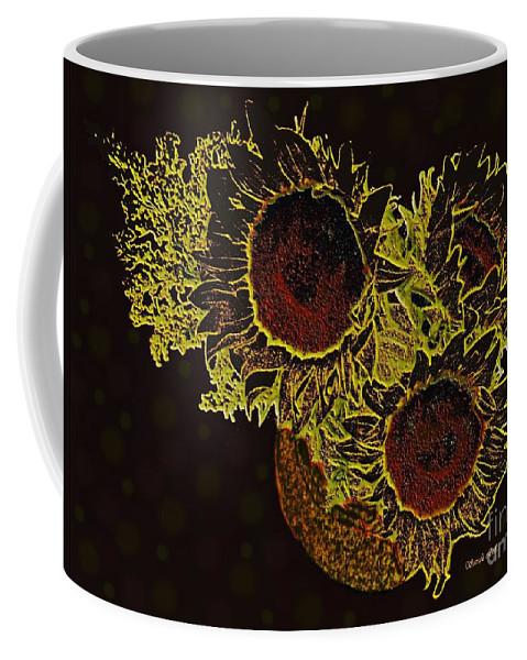 Sunflower Coffee Mug featuring the photograph Sunflower Decor 10 by Sarah Loft