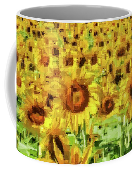 Alicegipsonphotographs Coffee Mug featuring the photograph Sunflower Edges by Alice Gipson