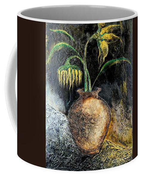 Sunflower Coffee Mug featuring the painting Sunflower by Farzali Babekhan