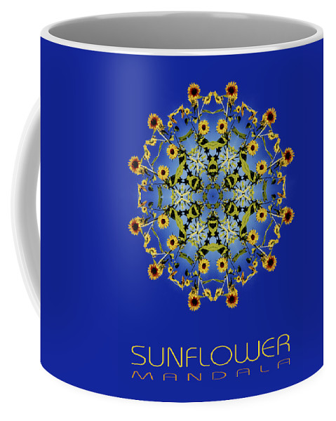 Mandala Coffee Mug featuring the photograph Sunflower Mandala by Nancy Griswold