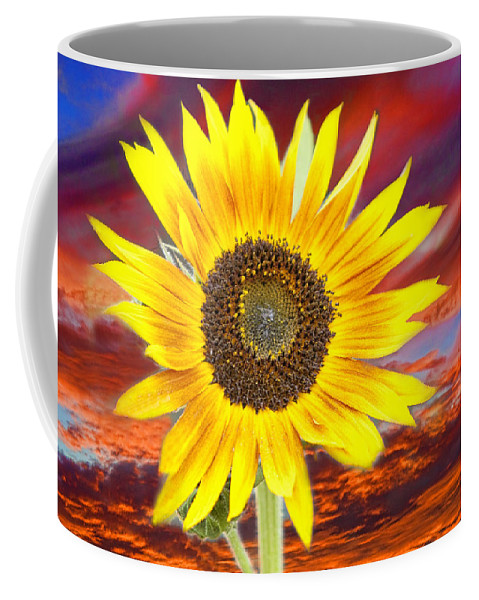 Sunflowers Coffee Mug featuring the photograph Sunflower Sunset by James BO Insogna