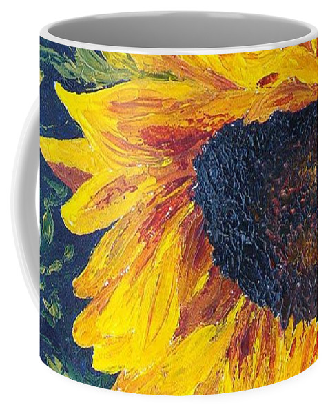 Coffee Mug featuring the painting Sunflower by Tami Booher