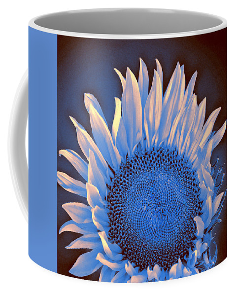 Sunflower Coffee Mug featuring the photograph Sunflower Moonlight by William Dey