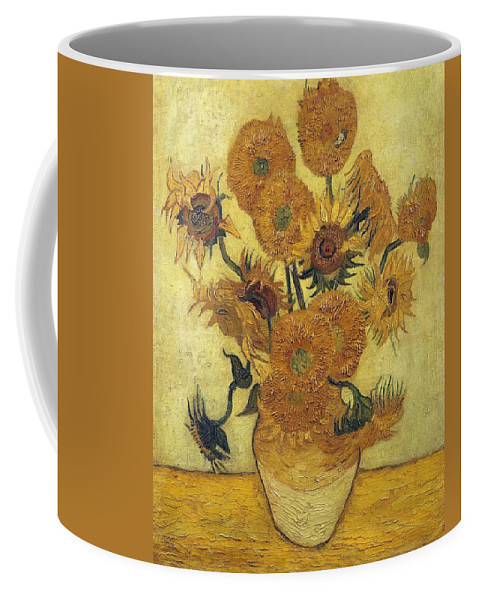 Flower Coffee Mug featuring the painting Sunflowers 2 by Artistic Panda