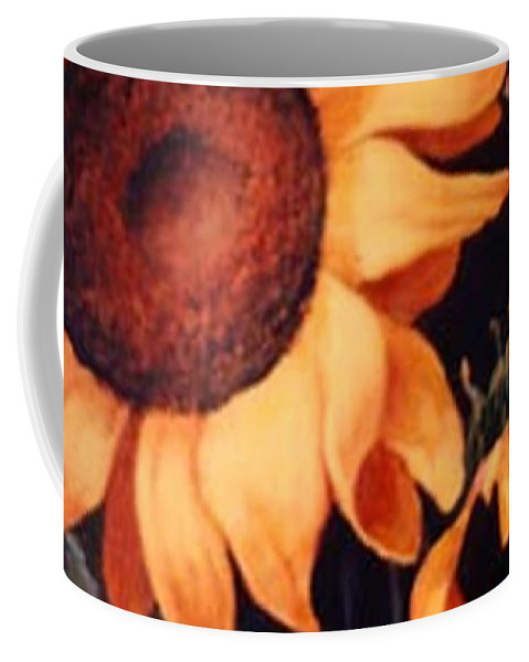 Sunflowers Paintings Coffee Mug featuring the painting Sunflowers And More Sunflowers by Jordana Sands