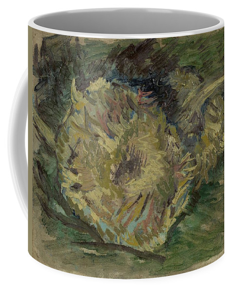 Flower Coffee Mug featuring the painting Sunflowers Gone To Seed Paris, August - September 1887 Vincent Van Gogh 1853 1890 by Artistic Panda