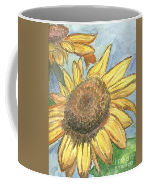 Daisy Coffee Mug featuring the painting Sunflowers by Jacqueline Athmann
