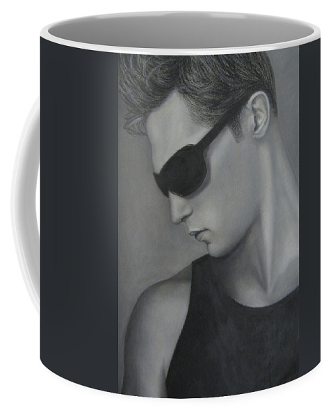 Man Coffee Mug featuring the painting Sunglasses by Lynet McDonald