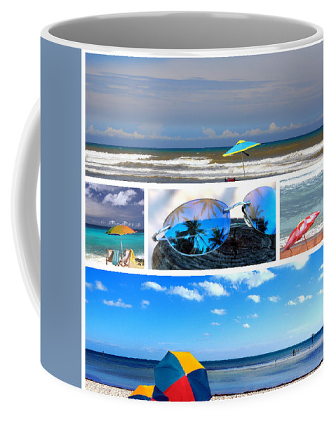 Beache Scene Coffee Mug featuring the photograph Sunglasses Needed In Paradise by Susanne Van Hulst