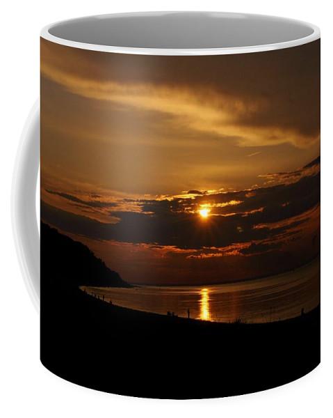 Sunset Coffee Mug featuring the photograph Sunken Sunset by Karen Silvestri