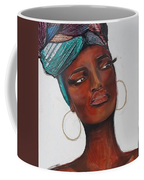 Newspaper Coffee Mug featuring the painting Sunkissed by Marcus Arceneaux