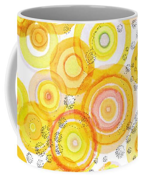 Happy Coffee Mug featuring the drawing Sunlight Ripples by Regina Valluzzi