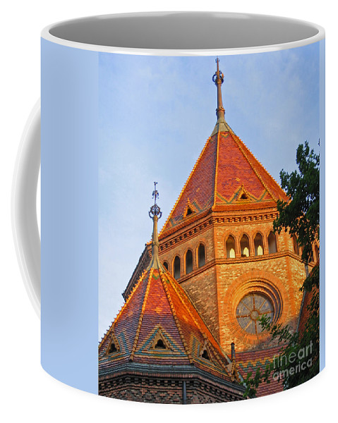 Budapest Coffee Mug featuring the photograph Sunlit Church Aglow by Ann Horn