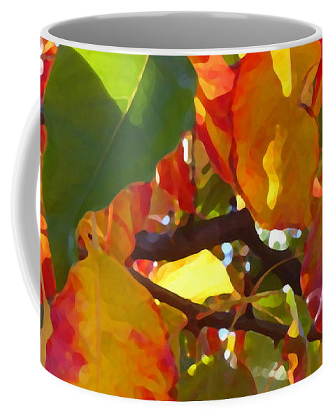 Fall Leaves Coffee Mug featuring the photograph Sunlit Fall Leaves by Amy Vangsgard