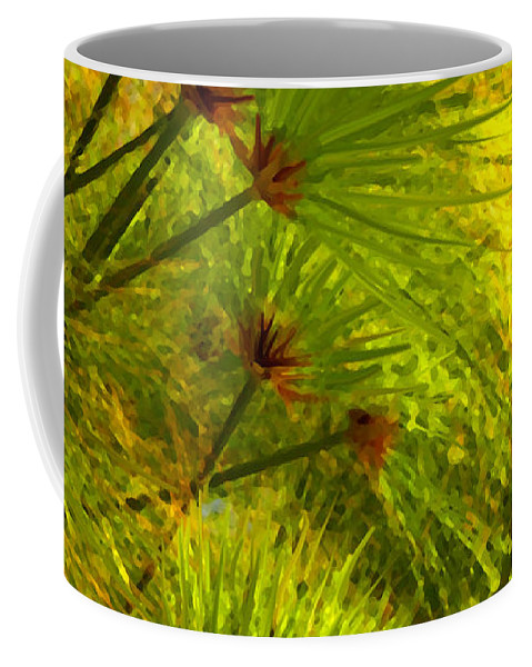 Landscape Coffee Mug featuring the painting Sunlit Paparus by Amy Vangsgard