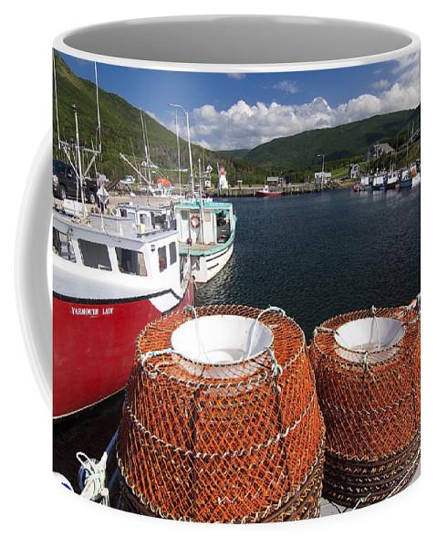 Harbor Coffee Mug featuring the photograph Sunny Cape Breton Harbor by Sven Brogren