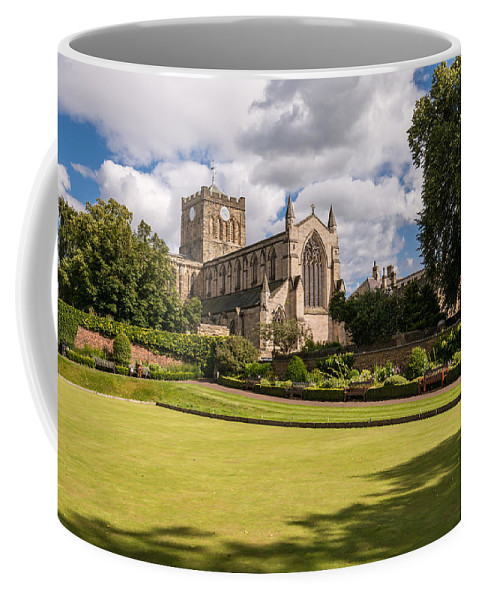 Northumberland Coffee Mug featuring the photograph Sunny Day At Hexham Abbey by David Head