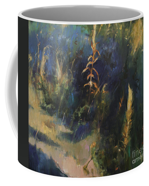 Lin Petershagen Coffee Mug featuring the painting Sunny Day by Lin Petershagen