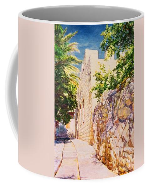City Landscape Coffee Mug featuring the painting Sunny Day. by Maya Bukhina