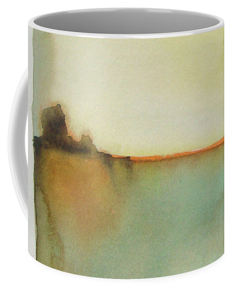 Abstract Coffee Mug featuring the painting Sunny Day by Vesna Antic