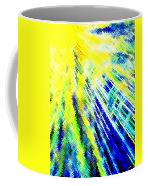 Abstract Coffee Mug featuring the digital art Sunny Days by Will Borden