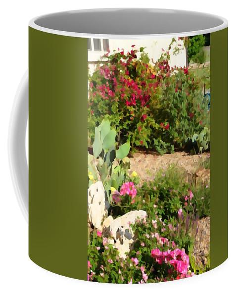 Springtime Coffee Mug featuring the photograph Sunny Rock Garden by Greg Hammond
