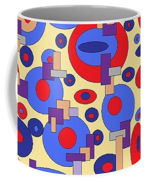 Digital Abstract Coffee Mug featuring the digital art Sunny Sea by Jordana Sands