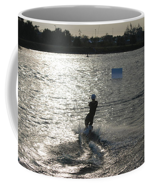 Sun Coffee Mug featuring the photograph Sunny Ski by Rob Hans
