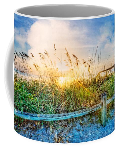 Dunes Coffee Mug featuring the photograph Sunrays On The Beach by Debra and Dave Vanderlaan