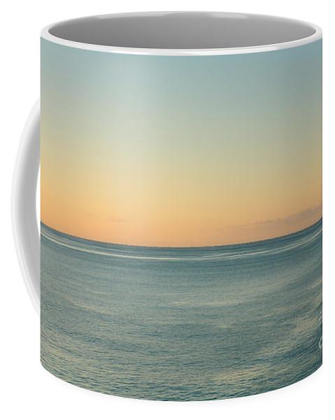 Calmness Coffee Mug featuring the photograph Sunrise And Serene Ocean by Gaspar Avila