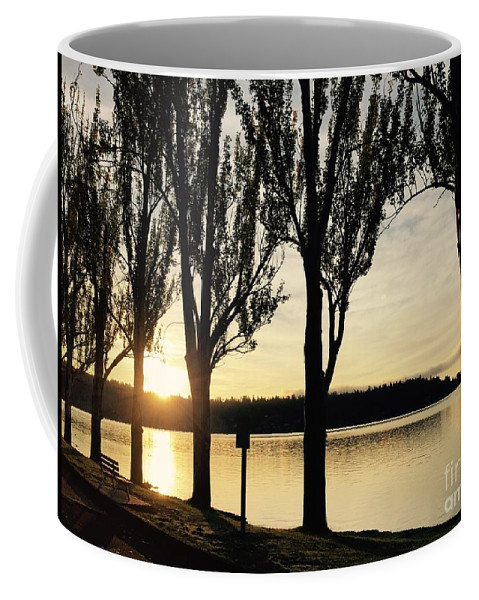 Silhouettes Coffee Mug featuring the photograph Sunrise And Silhouettes by LeLa Becker