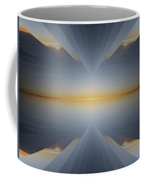 Sunrise Coffee Mug featuring the digital art Sunrise At 30k 5 by Tim Allen