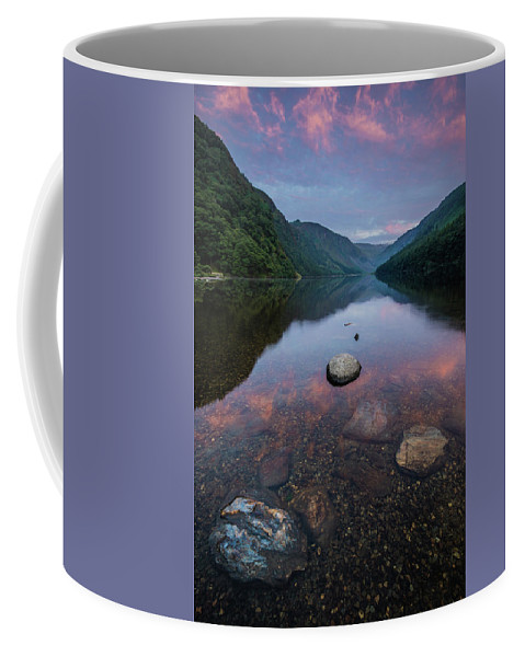 Sunrise Coffee Mug featuring the photograph Sunrise At Glendalough Upper Lake #2, County Wicklow, Ireland by Anthony Lawlor