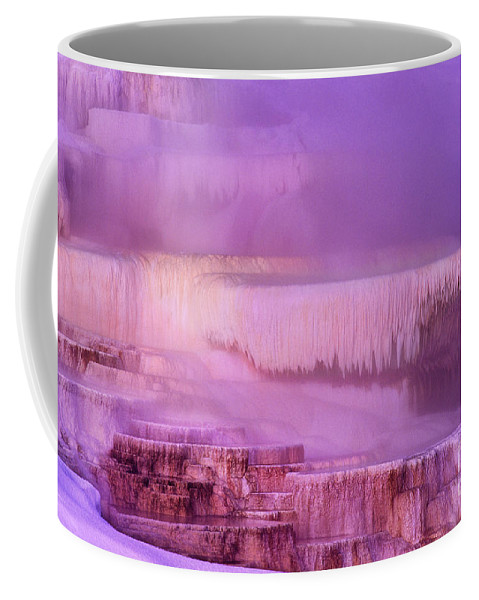 North America Coffee Mug featuring the photograph Sunrise At Minerva Springs Yellowstone National Park by Dave Welling