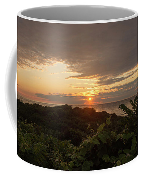 Long Island New York Coffee Mug featuring the photograph Sunrise At Montauk Point State Park by Joan D Squared Photography