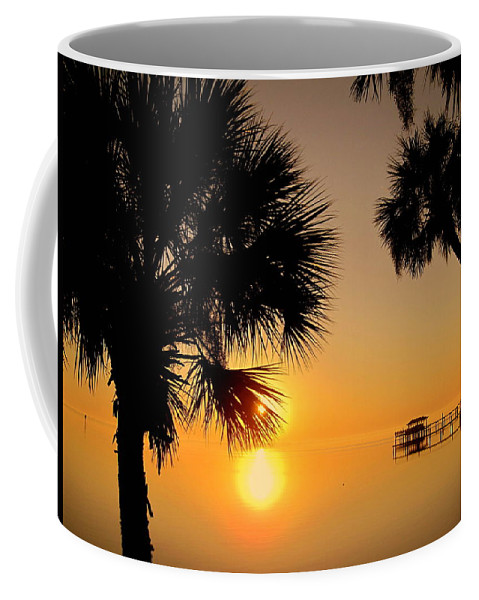Sunrise Coffee Mug featuring the photograph Sunrise At The Space Coast Fl by Susanne Van Hulst