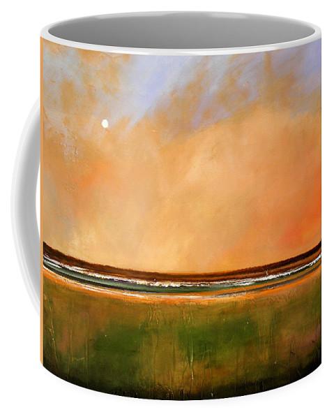 Sunrise Coffee Mug featuring the painting Sunrise Beach by Toni Grote