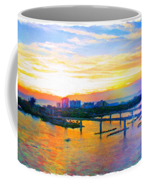 Halifax River Coffee Mug featuring the photograph Sunrise Colors Over The Halifax by Alice Gipson