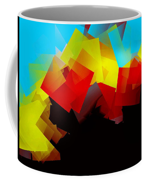 Sunrise Coffee Mug featuring the digital art Sunrise by Helmut Rottler
