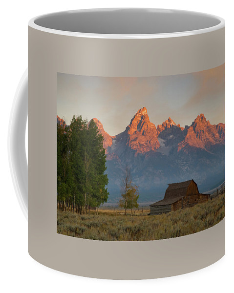 Grand Teton Coffee Mug featuring the photograph Sunrise In Jackson Hole by Steve Stuller