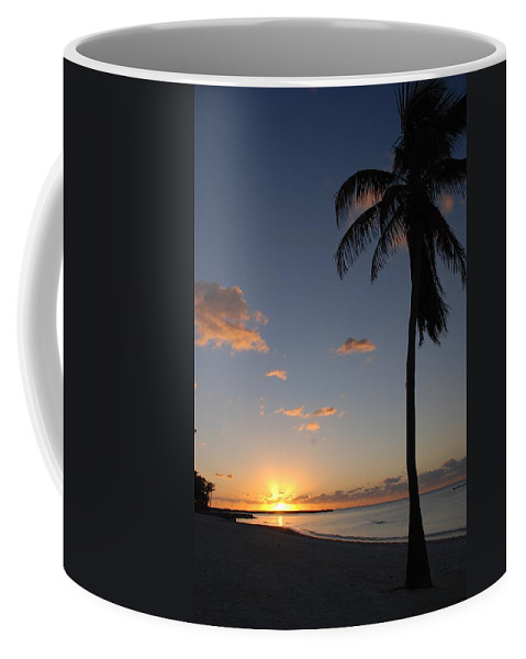 Sunrise Photos Coffee Mug featuring the photograph Sunrise In Key West 2 by Susanne Van Hulst