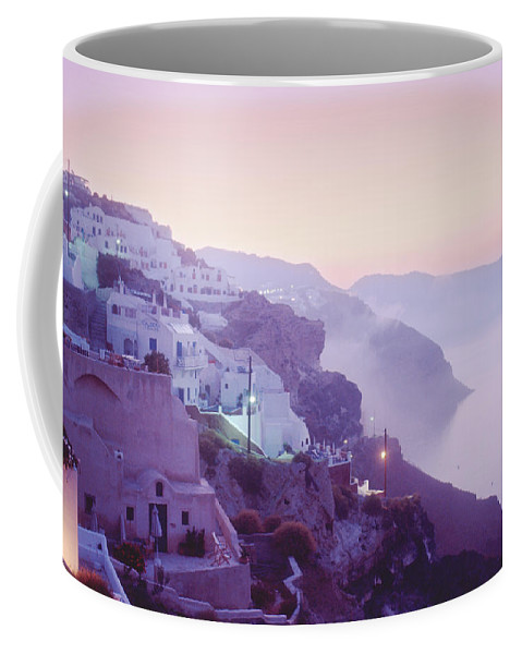 Oia Coffee Mug featuring the photograph Sunrise In Oia by Yuri Lev