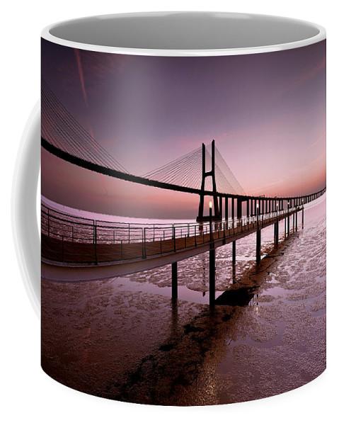 Lisbon Coffee Mug featuring the photograph Sunrise by Jorge Maia