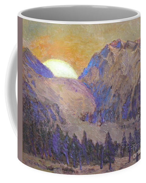 Sunrise Coffee Mug featuring the painting Sunrise by Meihua Lu