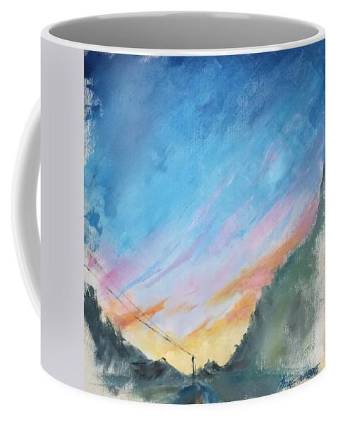 Oil On Canvas Coffee Mug featuring the painting Sunrise by Natalya Zaytseva