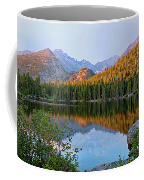 National Coffee Mug featuring the photograph Sunrise On Bear Lake Rocky Mtns by Teri Brown